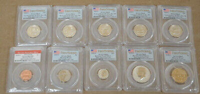 2018 S US 50th Anniversary Silver Reverse Proof Set 10 pc PCGS PR69 First Strike