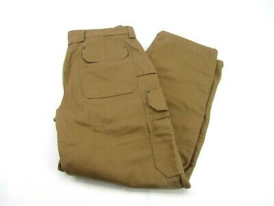 Duluth Trading Company Heavy Canvas Fleece Lined Cargo Work Pants Mens 38 x 32
