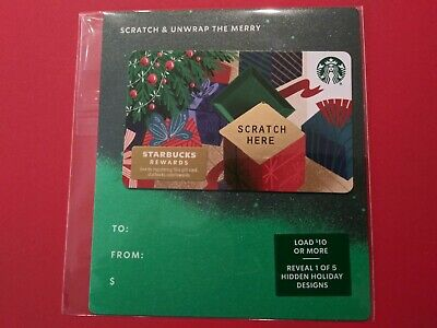"Starbucks gift card 2019 "" Scratch Here Christmas Card"" No Value. New"