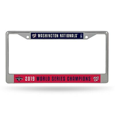 Washington Nationals 2019 World Series Champions Chrome License Plate Frame NWT