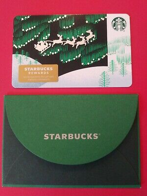 "Starbucks gift card 2019 ""SANTA'S SLEIGH RIDE"" No Value. Beauty. New"