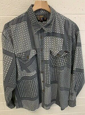 Tommy Bahama Mens All Over Print Long Sleeve Button Up Size XL