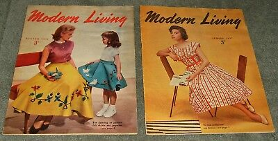 Modern Living Winter 1956 & Spring 1957 - Gas Council Magazines - Illustrated