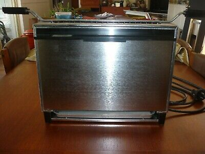 Vintage SUNBEAM Vertical Griller and Toaster Stainless Steel Grill Shiny Retro
