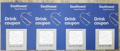4 Southwest Drink Coupons expires October 2020