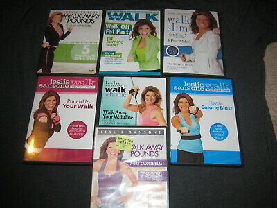 Lot 8 Leslie Sansone (DVD) Walk Away with Pounds, At Home,