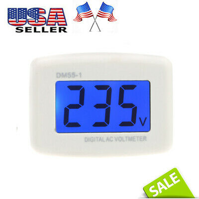 80-300V DM55-1 LCD Digital Voltage Test Monitor US Plug In AC Volt Meter J4Q5