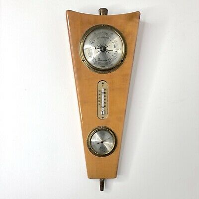 Vintage Weather Station Berometer Thermometer Forecaster Made in Germany German