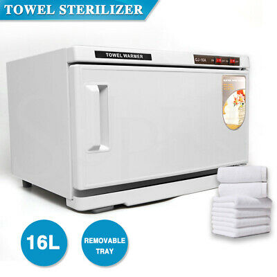 16L Hot Towel Warmer Cabinet UV Sterilizer Facial Salon Beauty Equipment