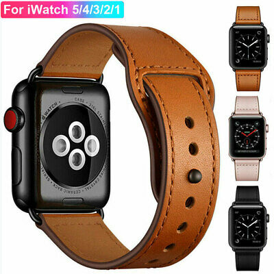 For Apple Watch iWatch Series 5 4 3 2 1 38/40/42/44mm Genuine Leather Band Strap