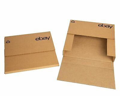 "NEW PRODUCT eBay-Branded Boxes With Black Color Logo 12.5""x12.5"" Flat Adjustable"