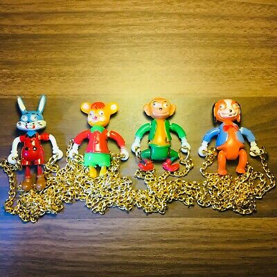 Vintage Gumball Googly Eyes Animal Necklaces Toys Lot of 4 Vending Charms