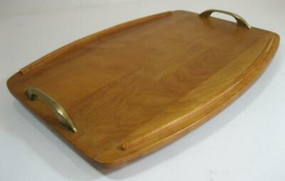 Vintage 60s-70s maple wooden tray mid century modernist MCM Baribocraft Canada