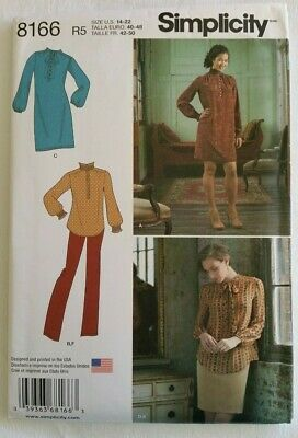 Simplicity 8166 Ladies Dress, Tunic, Skirt and Pants, Sizes 14 - 22 UNCUT