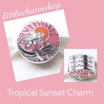 New Authentic Genuine PANDORA Silver Tropical Sunset Charm - 792116ENMX RETIRED