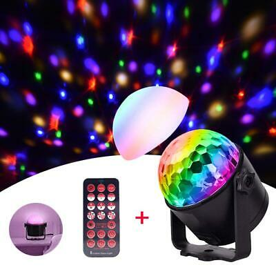 Sound Control Disco Party DJ LED RGB Stage Effect Light Lamp Crystal Magic Ball