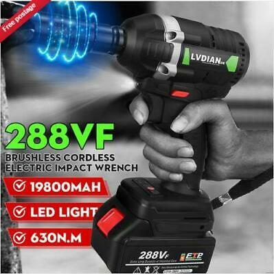 288VF 630N.M Electric Cordless Brushless Impact Wrench 3000rpm Ratchet Driver UK