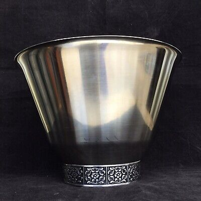 VINTAGE Stainless Steel WILTSHIRE BURGUNDY ICE BUCKET Large Salad Bowl