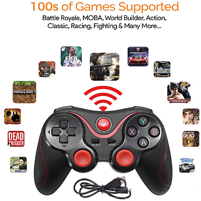 Wireless Bluetooth Game Remote Controller Gamepad for Android Tablets TV PC