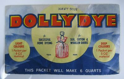 Retro/vintage 50s navy blue Dolly Dye packet Reckitts