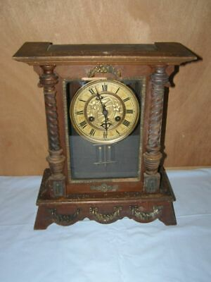 Old wooden clock, pendulum mechanism , Ringtone:  Gong
