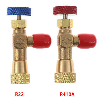 """2pcs R410A R22 Refrigeration Charging Adapter for 1/4"""" Safety Valve Service SS"""
