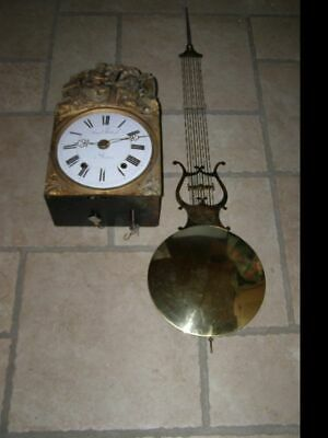 Old comtoise movement with balance Lyre D 27cm  ringtone: bell
