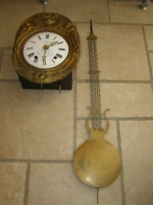 Old movement of Comtoise, ringtone: Gong, with lyre pendulum D 21,5cm