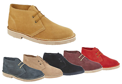 Roamers Unisex Real Suede Leather Desert Boots Kid's Men's Women's UK Sizes 3-15