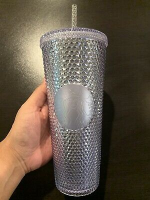 NEW 2019 Starbucks Bling Platinum Studded Venti Cold Cup Tumbler SHIPPING NOW