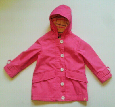 Girls Gorgeous Raincoat in Neon Candy Pink with Hood by Joules Age 3 Yrs BNWT