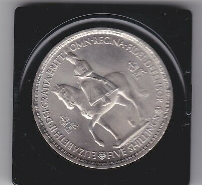 1953 Cased Coronation Five Shilling Piece Coin Birthday Anniversary Gift