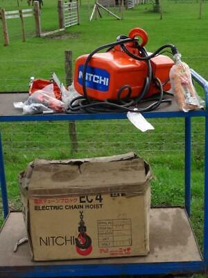 Unused Nitchi 500kg EC4 415v Three Phase Electric Chain Hoist MOTOR