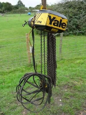 Yale CPM 500KG 110v 13m Single Phase Electric Chain Hoist