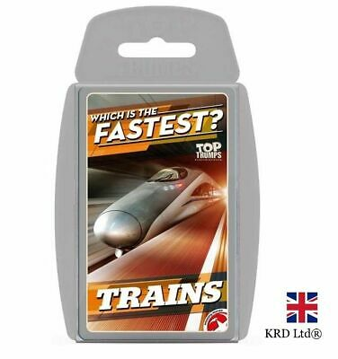 Christmas TOP TRUMPS TRAINS CARD GAME Family Kids Fun Playing Cards Gift Box UK