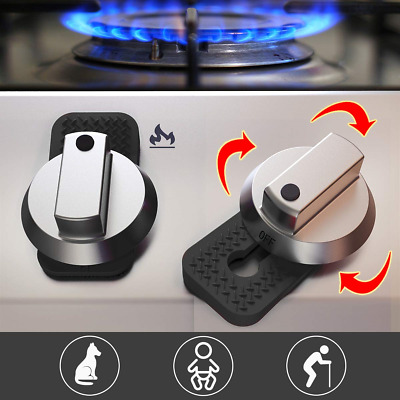 Gas Stove Child Safety Knob, Aukfa Oven Knob Guard-Child Safety Device Prevent 6