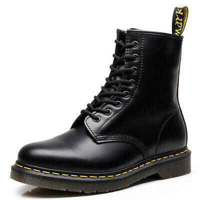 UK Dr Martens 8-Eye Classic Airwair 1460 Leather Ankle Boots Womens Mens Unisex