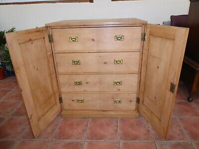 Victorian Pine Campaign Chest Of Drawers Free Shipping England