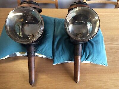 A pair of original antique coach lamps carriage lamps - Tunbridge Wells Flyer.