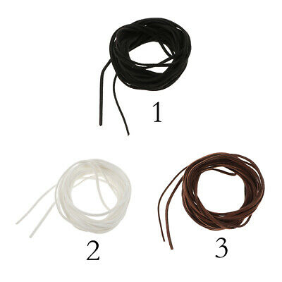 Flat Suede Leather Cord Lace Velvet Thong Jewellery String Craft Brown Black UK