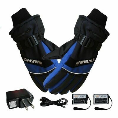 Electric Heated Gloves Warmer Hand USB Rechargeable Outdoor Motorcycle M0A1I