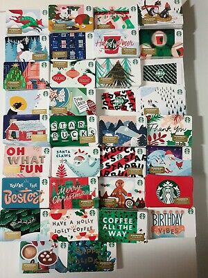 50 New Starbucks 2019 Christmas Holiday Gift Cards +A Christmas Straw Lot  Avail