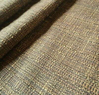 New One Off Texture Plain Basket Weave Brown Mix Upholstery Fabric ZZ210616-68
