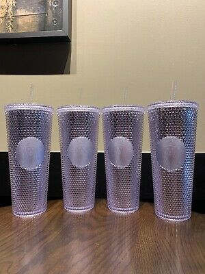 Starbucks Holiday Tumbler 2019 Venti Bling Platinum Studded Cold Cup Tumbler
