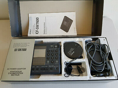 Vintage Sony ICF-SW7600 Complete Set in Original Box