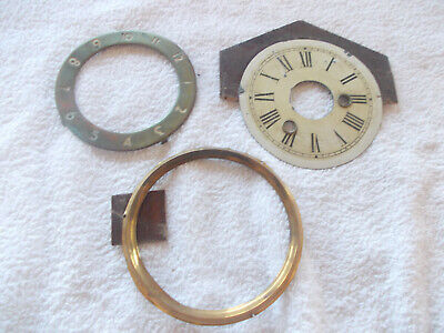 Two Used Vintage Clock Faces And A Bezel Rim,