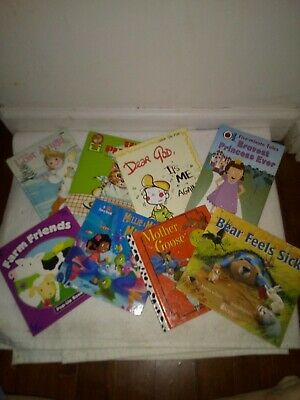 Lot of 8 Childrens Reading Story Time Kids BOOKS RANDOM MIX UNSORTED