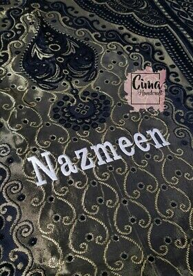Personalised Prayer Mat Mussalla Sajada with any name and dua Adult EMBROIDERED