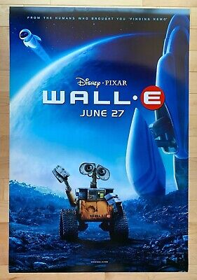 Wall•E Movie Poster One Sheet Double Sided Teaser Disney Pixar Rolled 2008