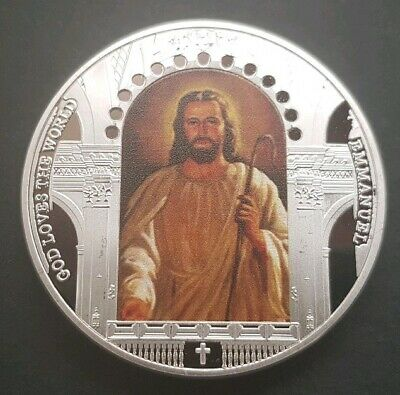 JESUS Commemorative Coin FREE COIN STAND AND BRAND NEW FITTED COIN  CAPSULE